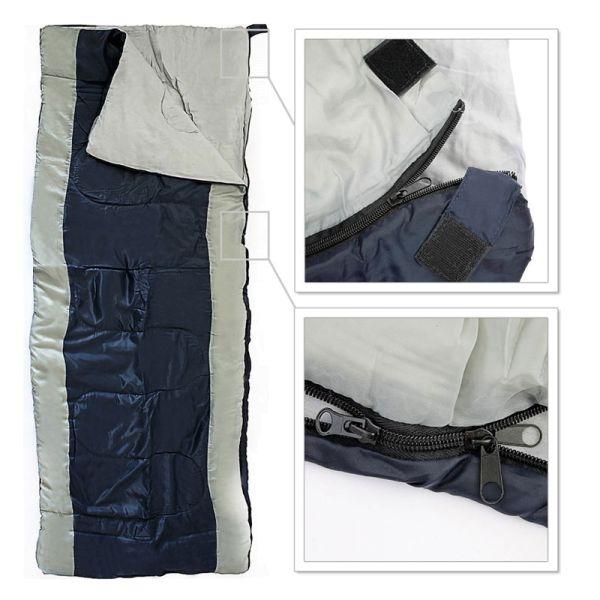 Einfacher Schlafsack in rechteckiger Form