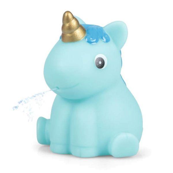 Einhorn Wasserspritzer blau