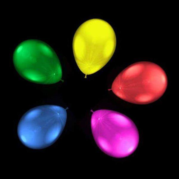 leuchtende Luftballons mit LEDs