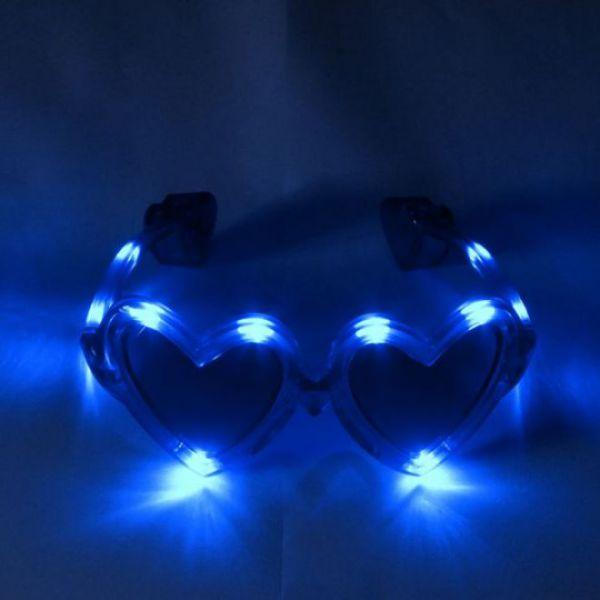 LED-Herzbrille blau