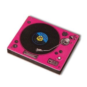 Nagelfeile Scratch DJ Turntable