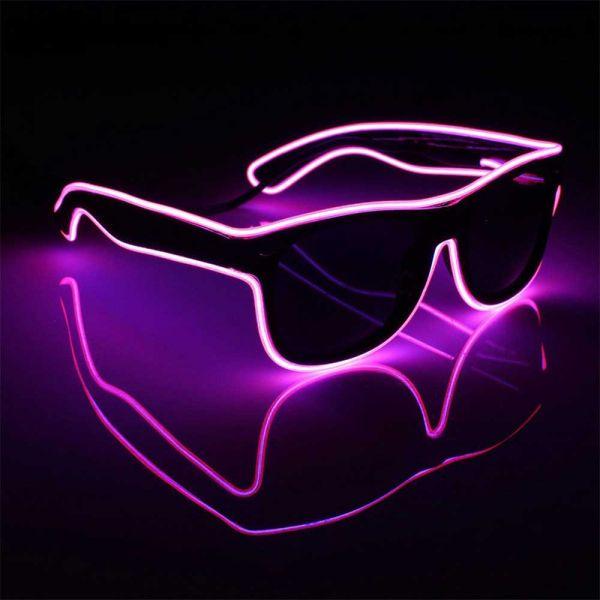 Leucht-Sonnenbrille in pink