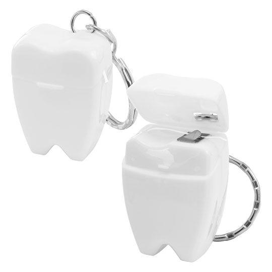 Mini-Zahnseide mit Schlüsselring