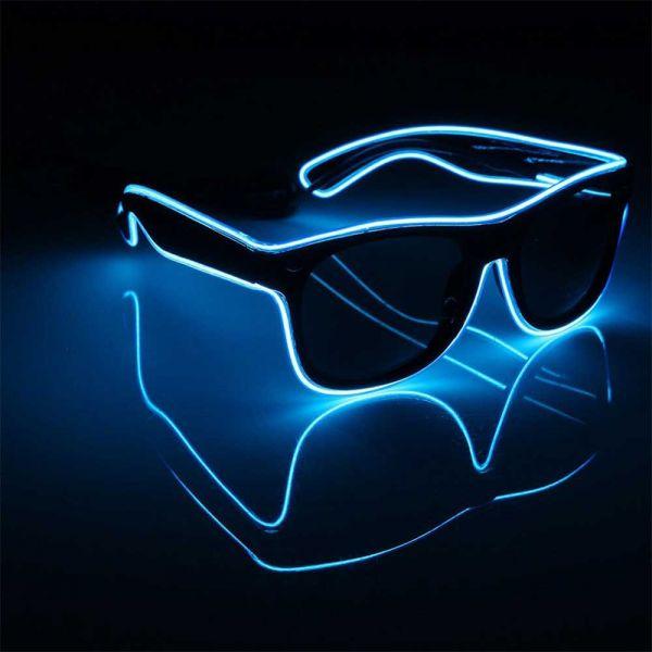 Leucht-Sonnenbrille in blau