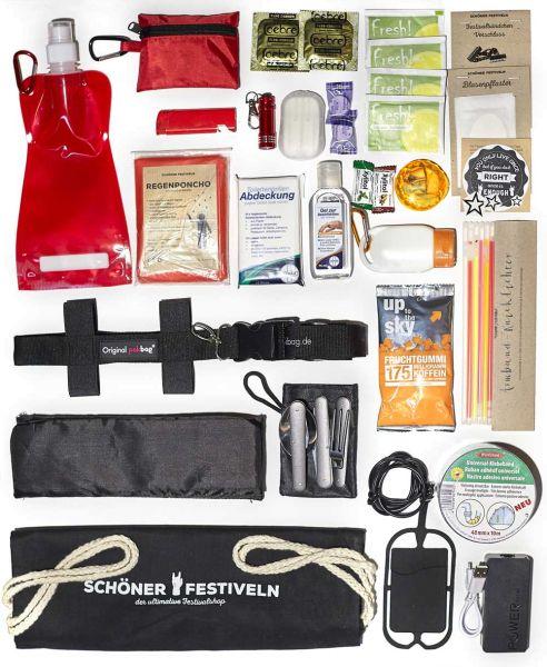 Mit diesem Festival-Kit bis Du fürs Festivalgelände gut gerüstet