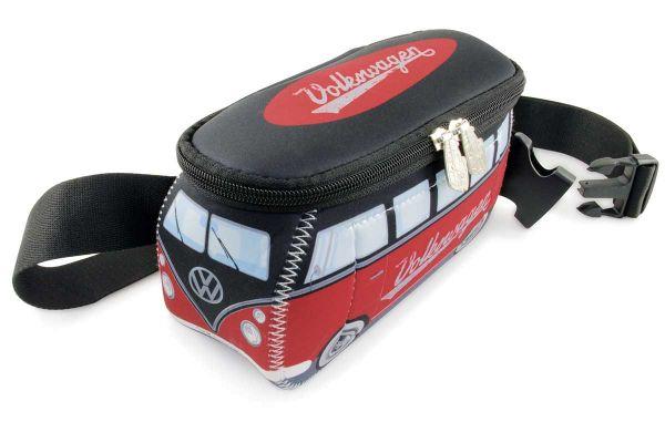 VW-Bulli als Hüfttasche aus Neopren in Rot/Schwarz