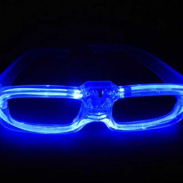 LED-Leuchtbrille ohne Gläser für Festivals, Disco und Party