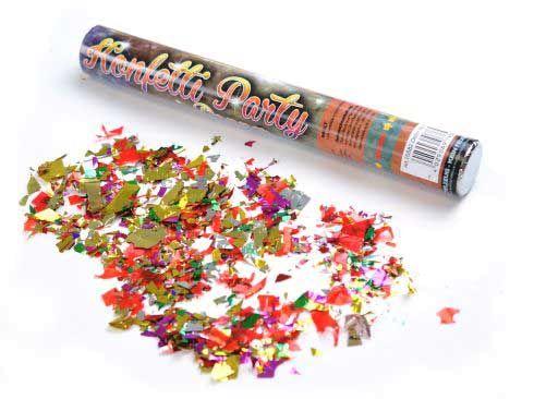 Konfetti-Kanone für einen wahren Konfetti-Regen auf dem Festival