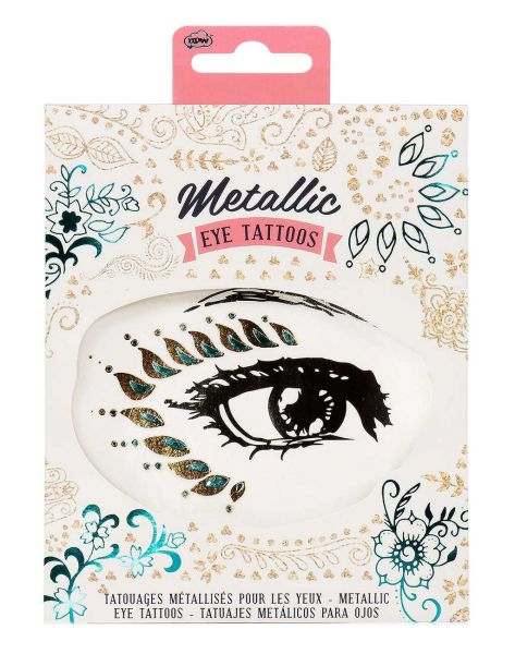 Metallic Eye-Tattoos