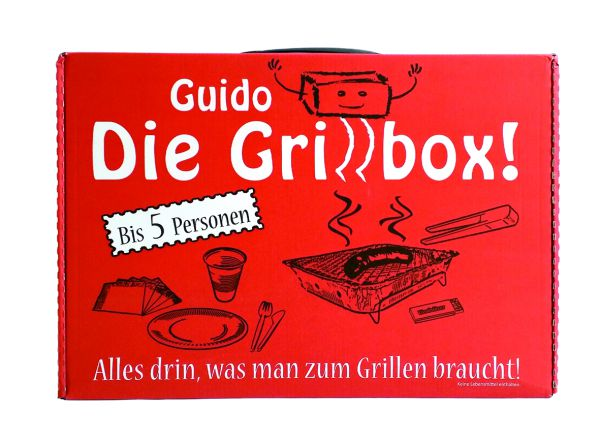 Picknickgrill in praktischer Grillbox für Unterwegs