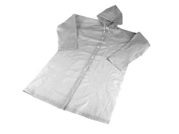 Regenmantel transparent-weiß