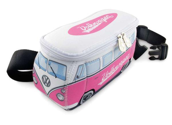 VW-Bulli als Gürteltasche in Pink/Weiß