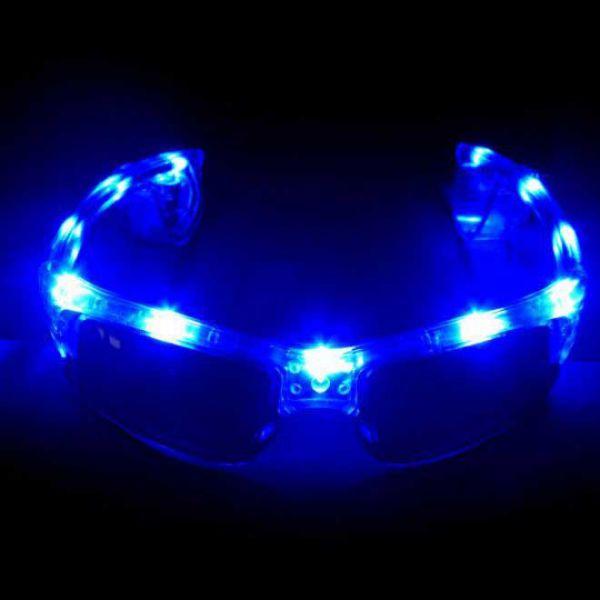 leuchtende Sonnenbrille mit LEDs fürs Festival