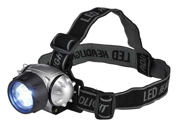 Stirnlampe mit 7 LEDs und verstellbaren Kopfriemen